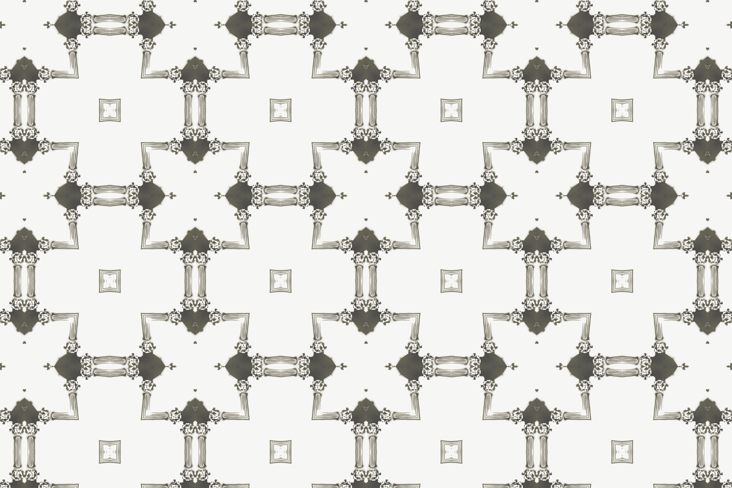 Dido Charcoal Grey Cream Chinoiserie Lattice Pearl and Maude