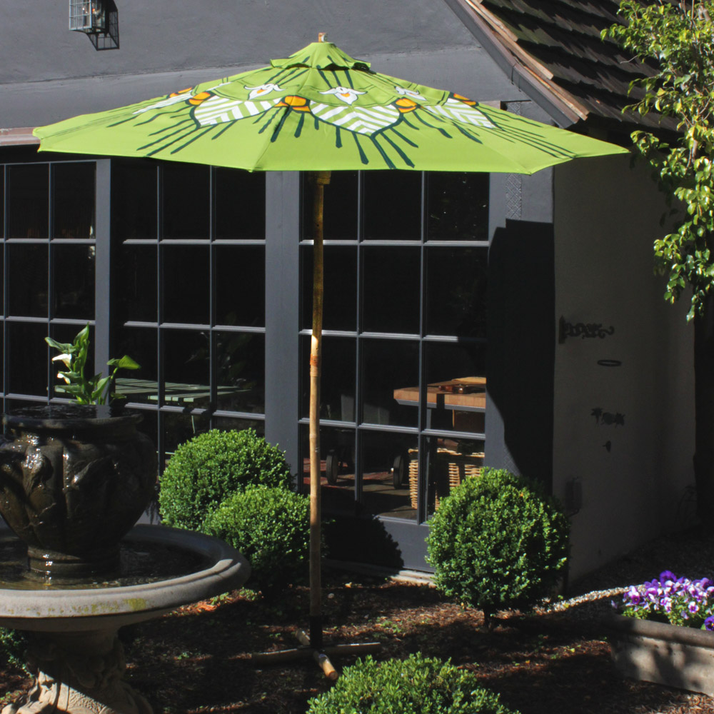 Hand Painted Olive Patio Umbrella