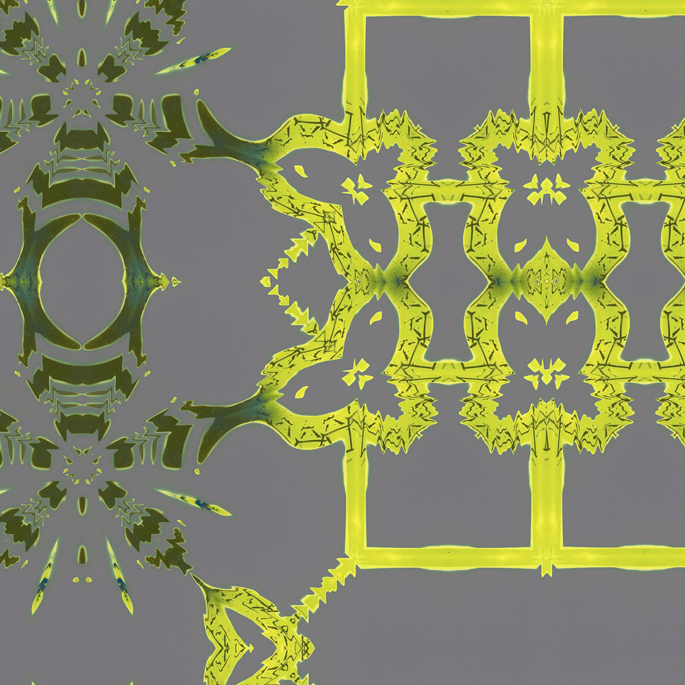 Arachne is a yellow and gray home decor pattern. This lattice inspired design vibrates with life.