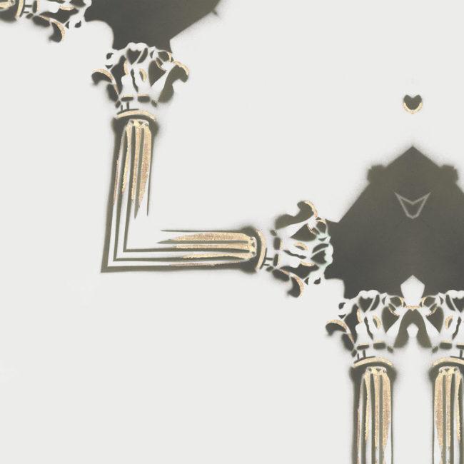 luxury wallpaper art deco lattice grey cream gold