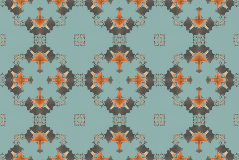 blue and grey art deco wallpaper