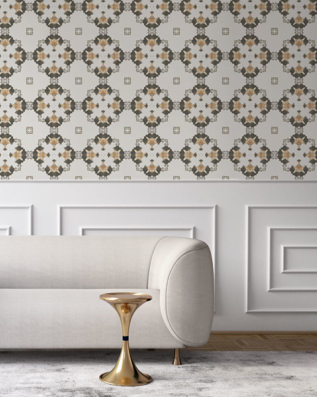 wallpaper los angeles art deco grey gold taupe