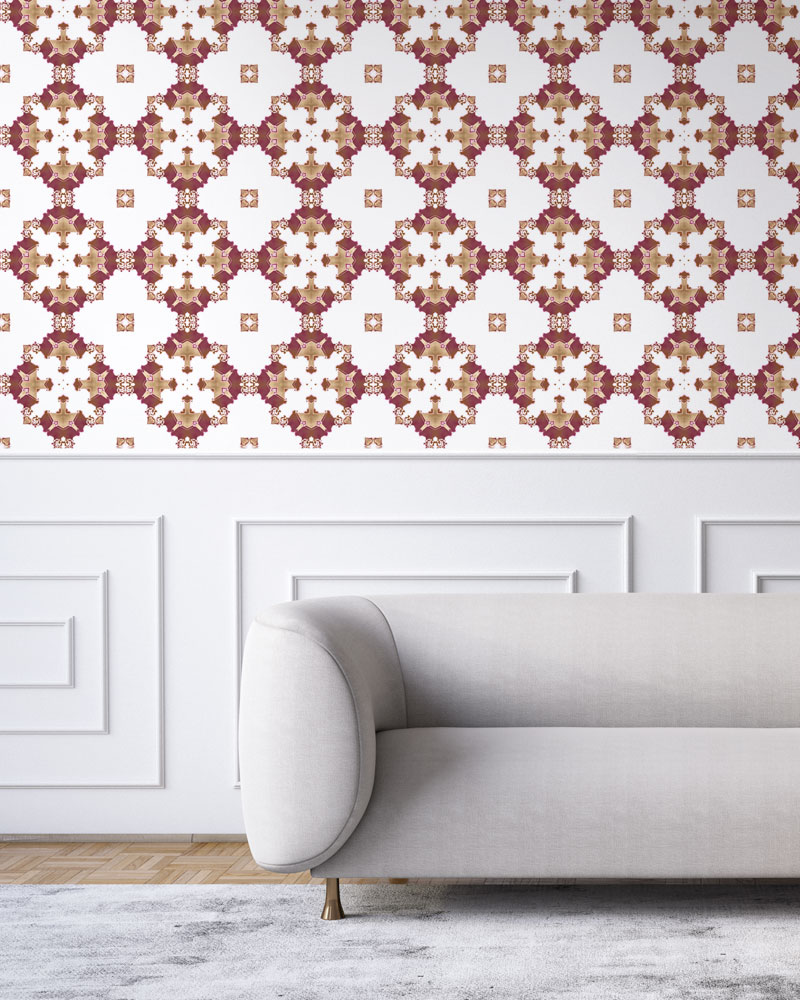 luxury wallpaper red burgundy gold art deco