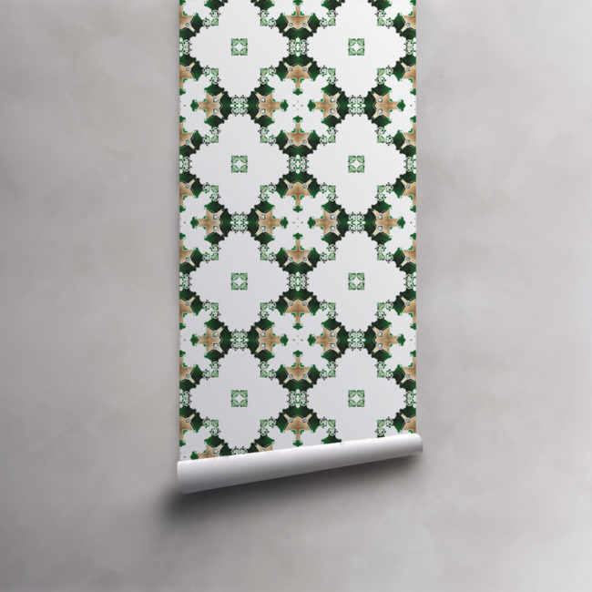los angeles wallpaper art deco green white