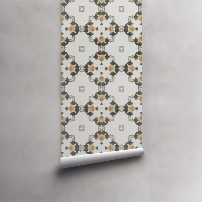 wallpaper los angeles taupe grey gold diamonds
