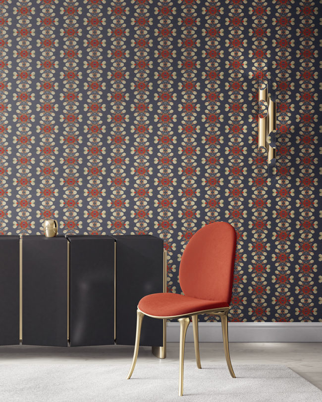 is an artisanal wallpaper for luxury interiors. , Arabella in grey and red is an artisanal wallpaper created for luxury interiors. It's the perfect wallcovering for bold, masculine and sophisticated environments. Grasscloth wallcovering comes untrimmed.