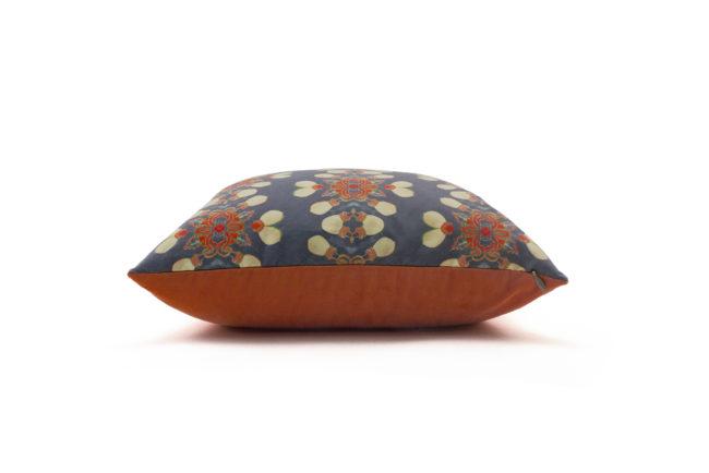 Arabella grey coral throw pillow side