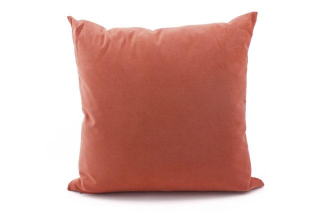 Bunsen blue coral throw pillow cover velvet back