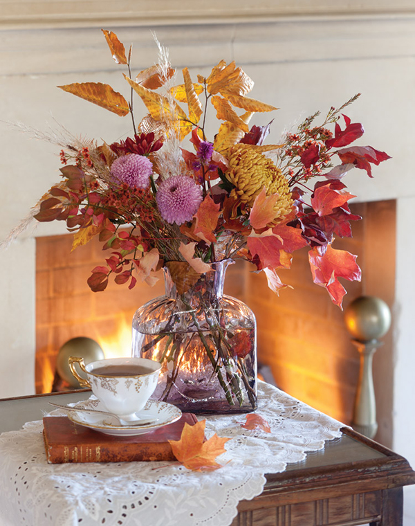 Gorgeous fall floral arrangement