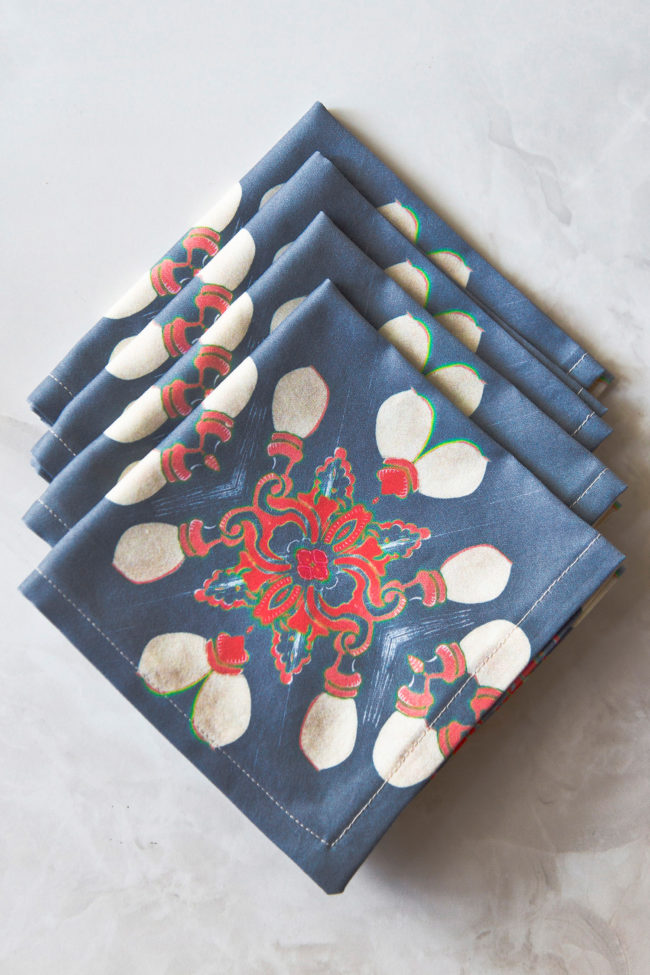 arabella fabric cocktail napkin set of four