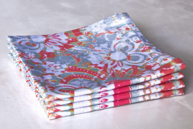 carmen fabric cocktail napkin set