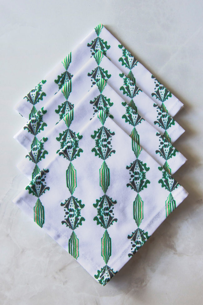 charlie fabric cocktail napkin set of four