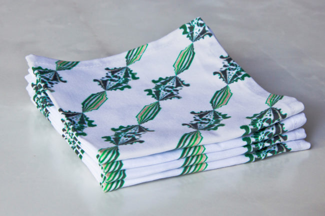 charlie fabric cocktail napkin set