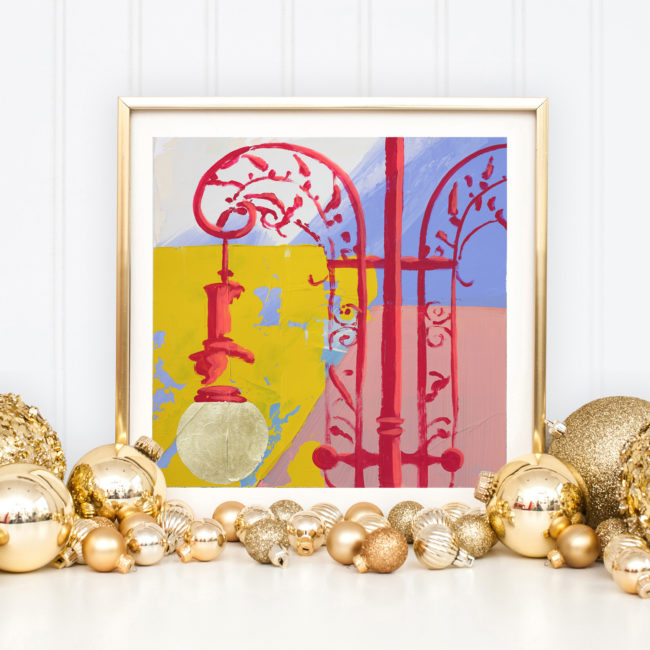 Delicate but Durable hand embellished print as a holiday gift