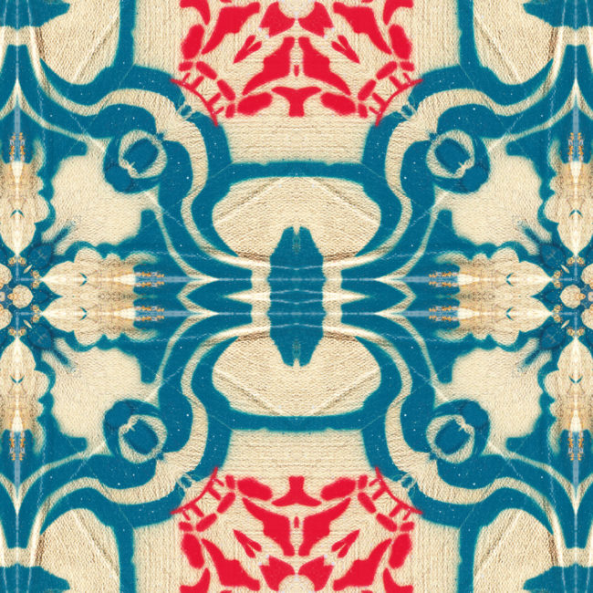 Tudor blue and gold art print