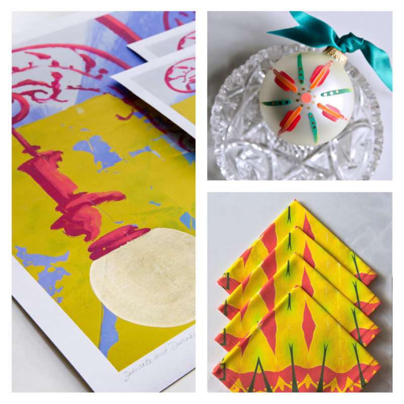 yellow art gift package